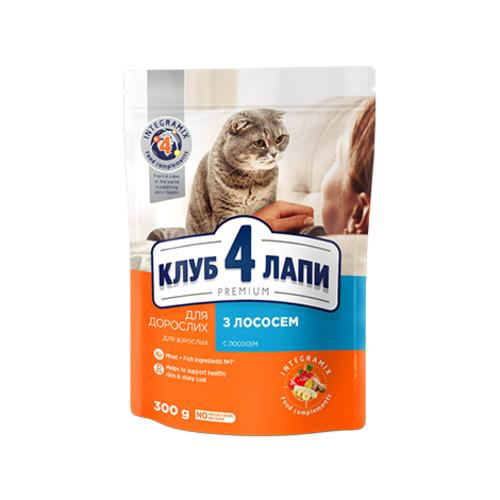Сухой корм для взрослых кошек Клуб 4 четыре лапы (CLUB 4 PAWS PREMIUM) лосось, на развес от 1 кг