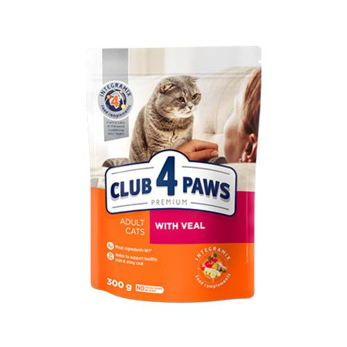 Сухой корм для взрослых кошек Клуб 4 четыре лапы (CLUB 4 PAWS PREMIUM) телятина, на развес от 1 кг