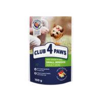 Консервированный корм, пауч для собак малых пород Клуб 4 четыре лапы (CLUB 4 PAWS PREMIUM) с курицей в желе