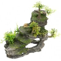 Грот для аквариума, скала с растениями Трикси TX-8852 (Trixie), 19 см
