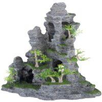 Декор для аквариума, скала с пещерой и растениями Трикси TX-8859 (Trixie), 31 см