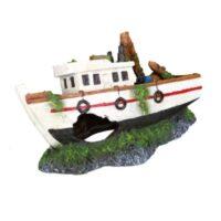 Декорация для аквариума, рыбацкая (затонувшая) лодка TX-87818 (Trixie), 15 см