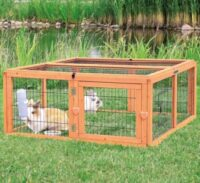 Деревянная клетка, загон для кролей, свинок Трикси (Trixie) TX-62281, 109/116/48 см
