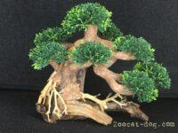 Коряга, натуральное дерево Бонсай с зеленью для аквариума