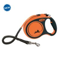 Поводок-рулетка Флекси Экстрим для собак (Flexi XTREME Tape Leash) TX-21417 оранжевая, 5 м/20 кг