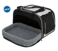 Переноска-домик для собак и кошек с выдвижным лежаком Трикси ТХ-28901 (Trixie Valery), 29 х 31 х 49 см, черный/серый