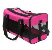 Сумка-переноска с сеточкой для собак, кошек до 6 кг Трикси ТХ-28845 (Trixie), 26х27х47 см розовая