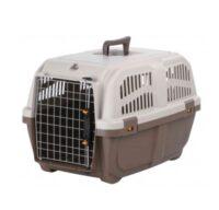 Переноска пластиковая, бокс транспортный для собак и кошек Трикси ТХ-39741 (Trixie Skudo), 40х39х60 см корич/песочный